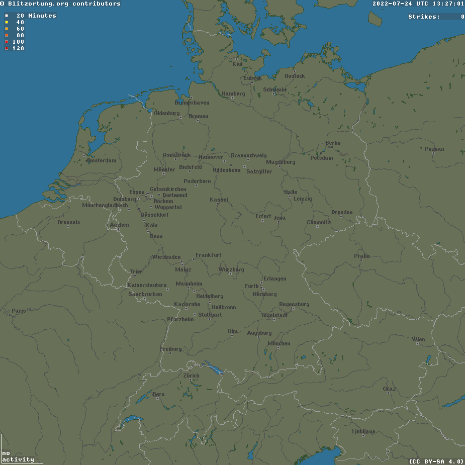 onweer radar west-europa