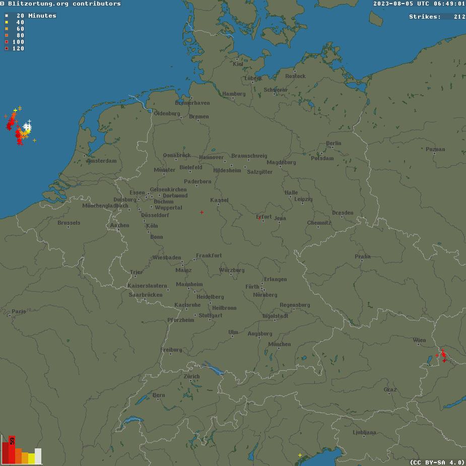Blitze Deutschland