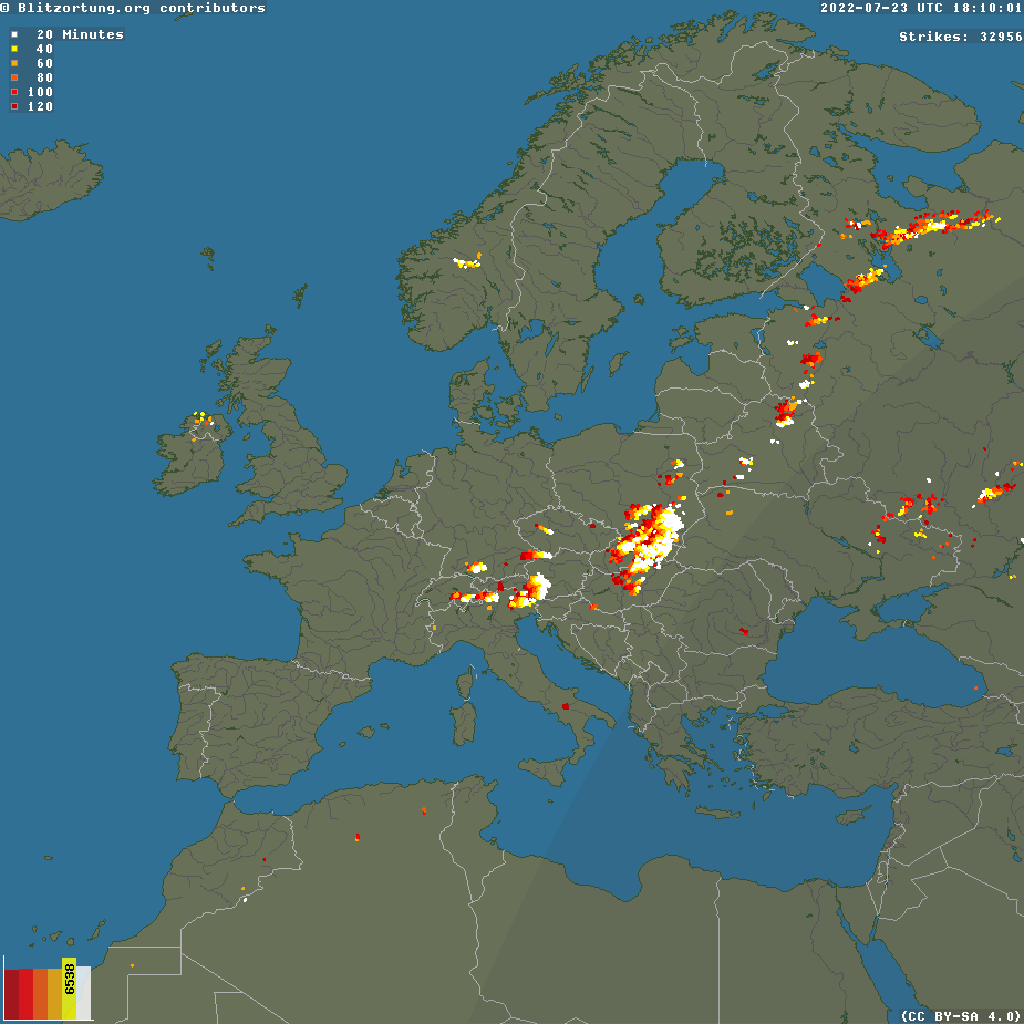 Middle East Lightning Radar