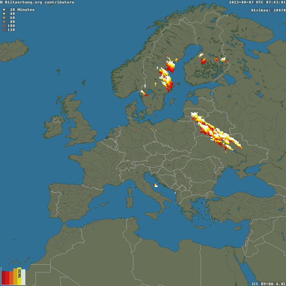 Lightning in Europe