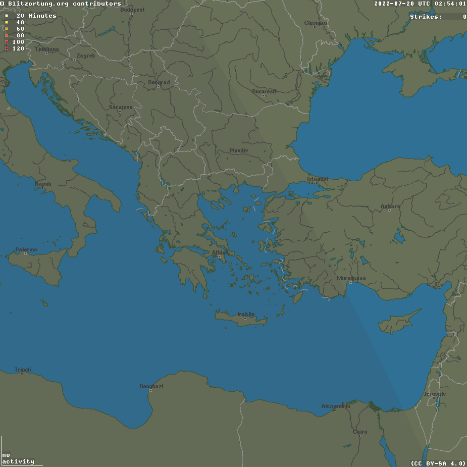 Current lightnings over Greece