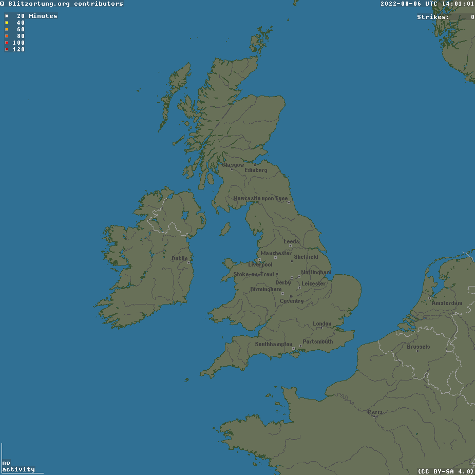 UK Lightning Detection