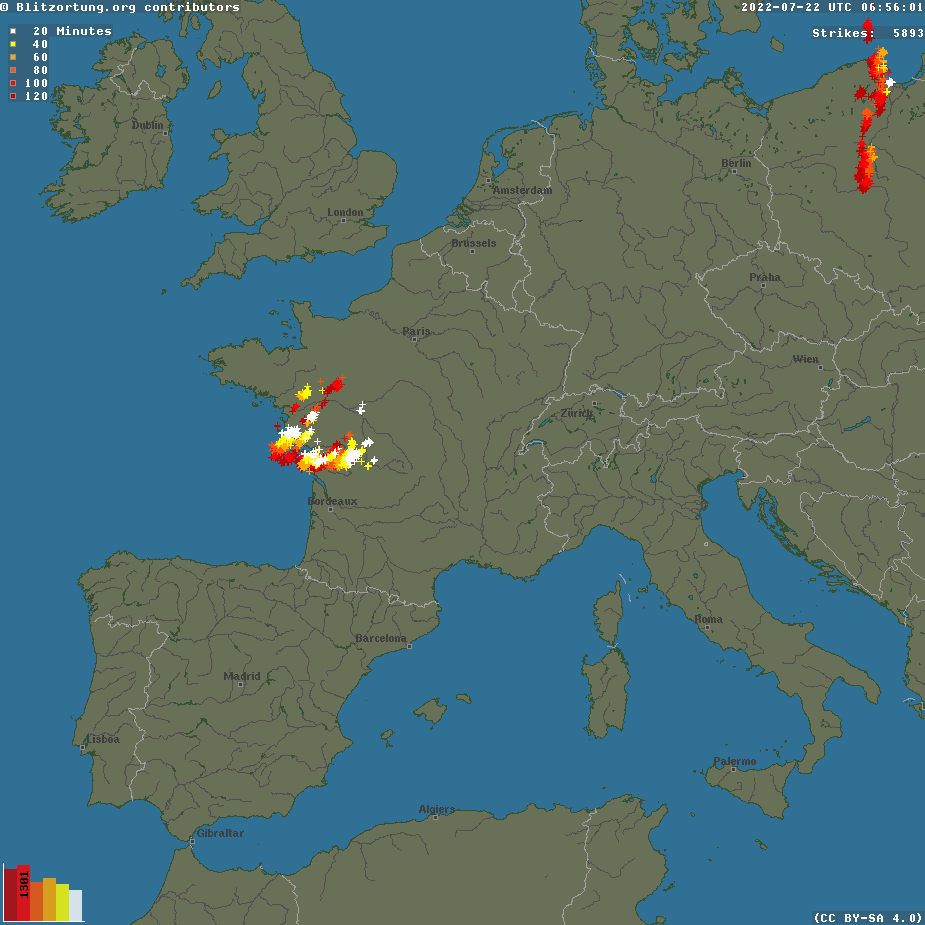 Lightning Strikes Map